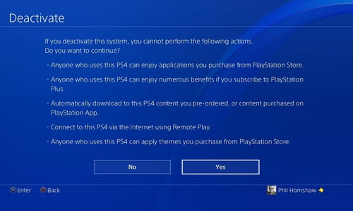 Reset The PS4