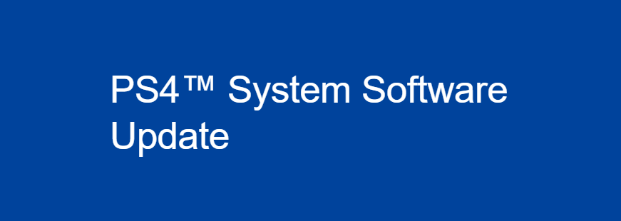 PS4 System Software Download 7.51