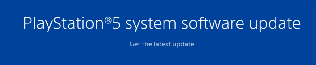 PS5 System Software Update