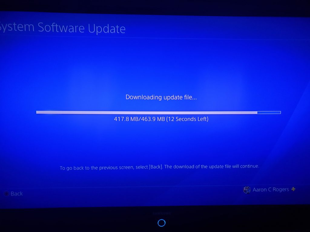 Re-install PS4 system software