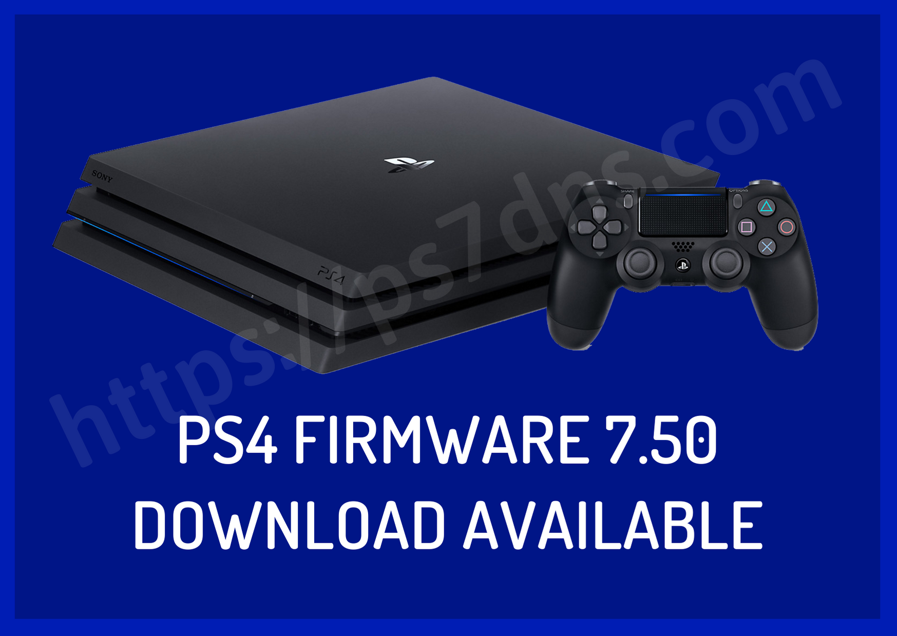 PS4 Firmware 7.50 Download Available