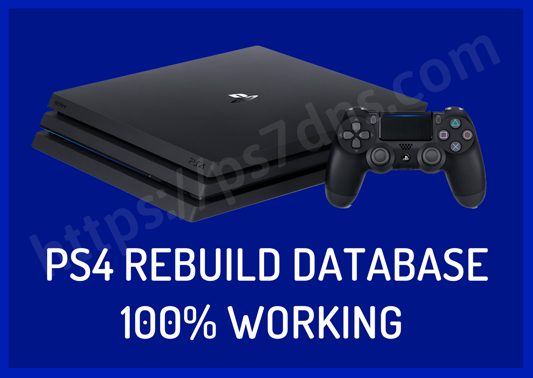 PS4 Rebuild Database 100% Working