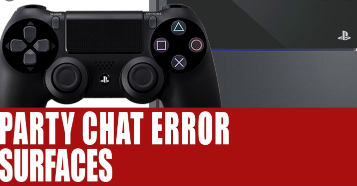 PS4 party chat error