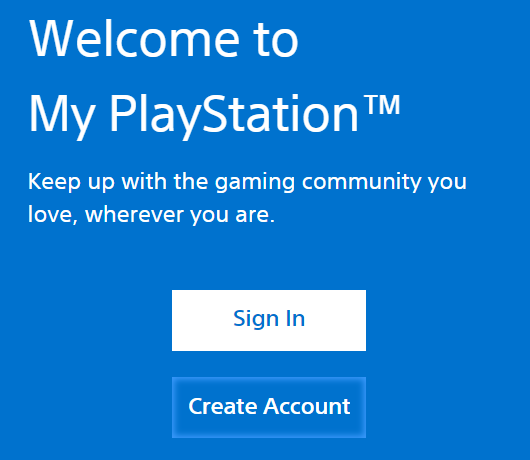 Create PSN Account